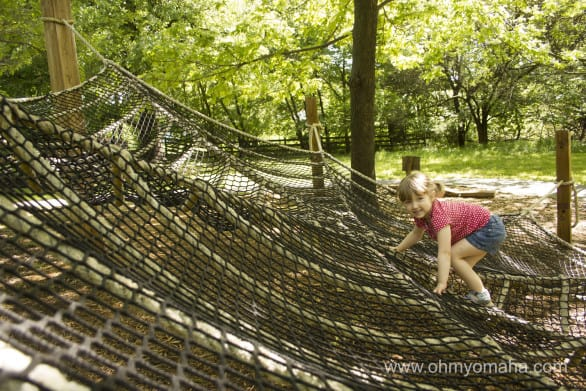 Arbor Day Farm Tree Adventure climber