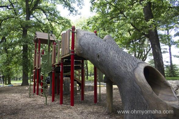 The playground at Arbor Lodge park.