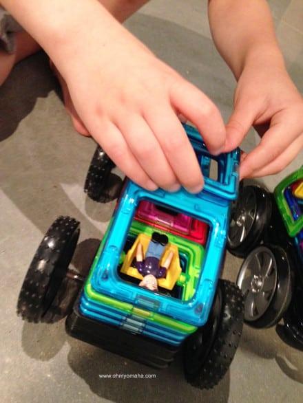 Here's a car he built.