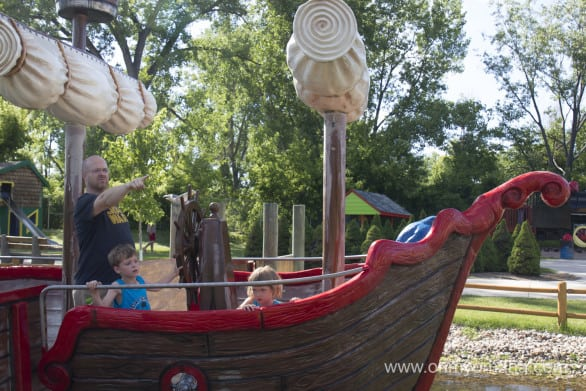 Mr. Wonderful and the kids head off to uncharted waters on Captain Hook's boat.