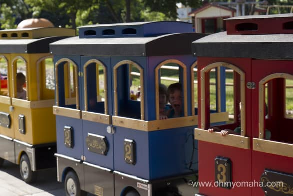 For $2, a kid can ride the mini train around part of the park, including through a tunnel. Exciting stuff.