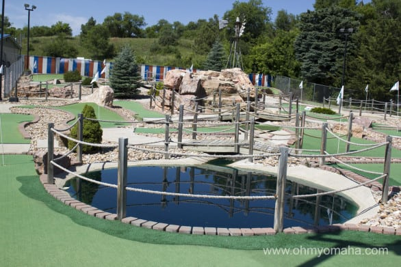 A view of the putt-putt golf course next to Hills Inn. Guests at the motel can play for free.