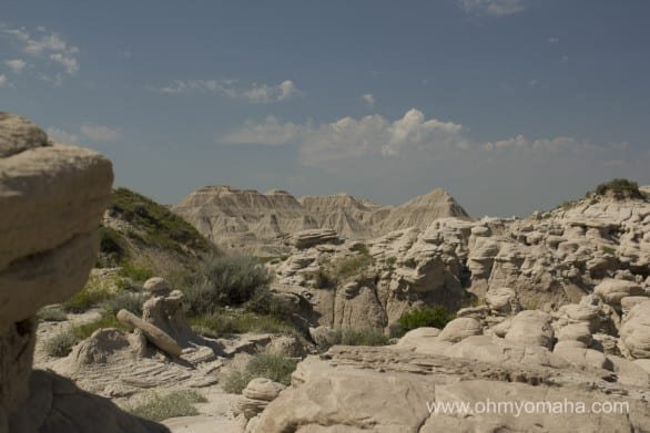 Most interesting terrain in Nebraska - Head to Nebraska's Badlands, Toadstool Geologic Park.