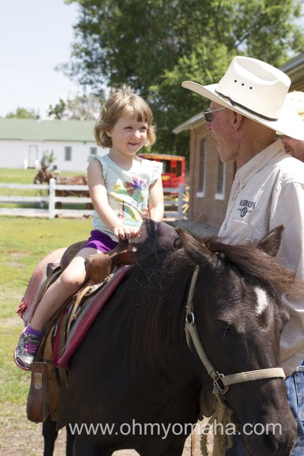 Pony ride at Fort Robinson State Park in Nebraska