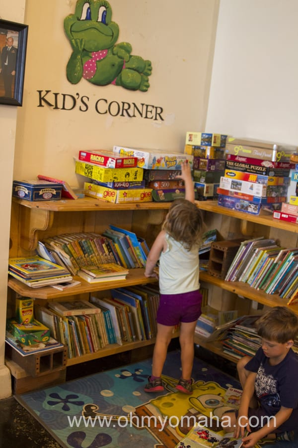 Fort Robinson State Park library and game shelves