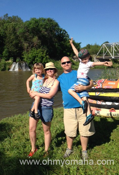 Kim and family at the Niobrara River  launch point.