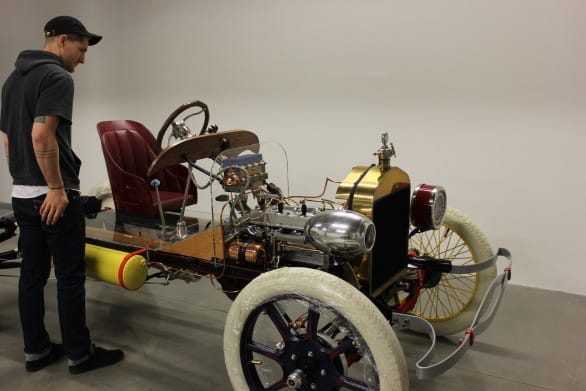 """Here's the dissected cutaway Model T you'll see at """"Design in Motion."""" Photo courtesy KANEKO"""