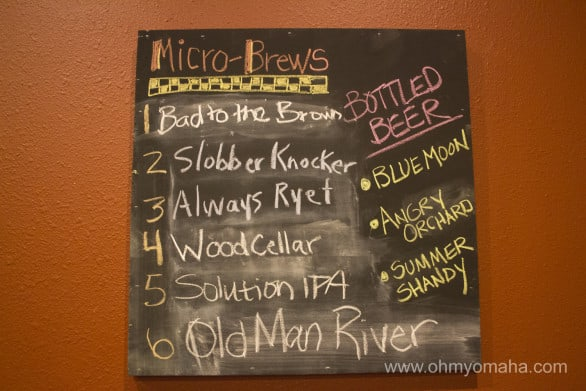 The microbrews on hand at Rustic Brew during our recent visit. Only Slobber Knocker is guaranteed to be there when you visit - the rest rotate.