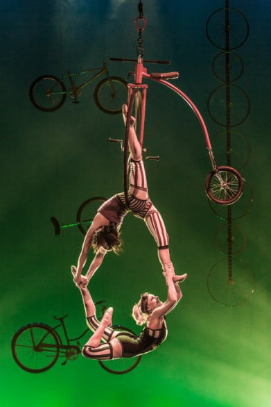 "One of the acts in ""Pedal Punk."" Photo courtesy Cirque Mechanics"