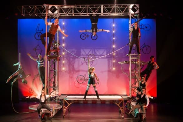 "Cirque meets BMX bikes in ""Pedal Punk,"" at the Orpheum Theater Nov. 12."