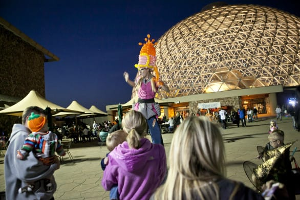 Spooktacular fun in front of the Desert Dome. Photo courtesy Omaha's Henry Doorly Zoo & Aquarium