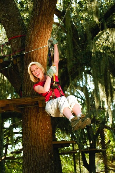 I'd totally look this put together ziplining in Florida. Totally. Hope to try this zipline course at the ZOOm Adventures. Photo courtesy Seminole County