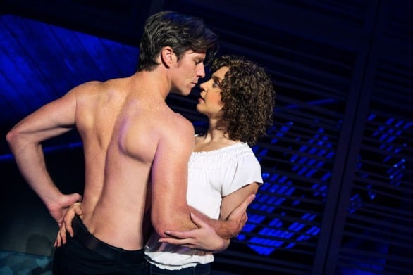 "Johnny and Baby in the touring production of ""Dirty Dancing."" I have heard that Johnny is not shirtless the entire show. Sorry."