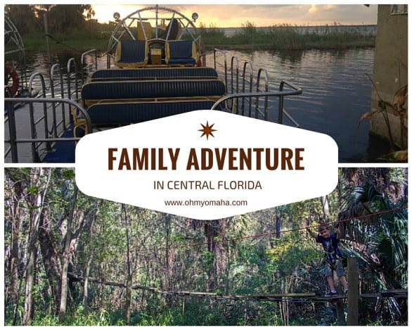 Family-friendly things to do in Central Florida - Air boat rides, zip line and ropes course, and more just a few miles away from Orlando! #familytravel #Florida