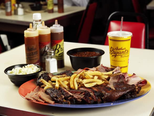 How 'bout a big, heaping plate of barbecue at Arthur Bryant's? Photo courtesy Visit KC