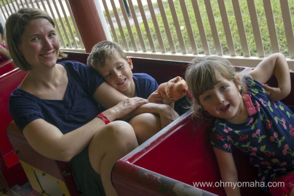 The mini train rides at the Central Florida Zoo in Sanford, Florida