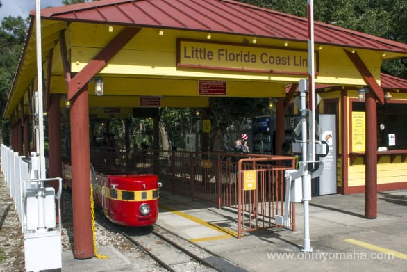 The train station is at the entrance to the Central Florida Zoo in Sanford, Florida