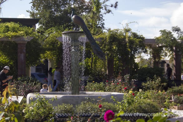 One of the fountains in the park at Winter Park.