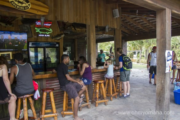 The bar at Wekiva Island