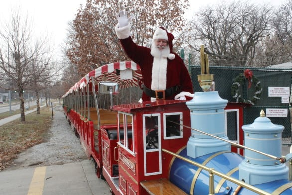 Santa at the Lincoln Children's Zoo's North Pole Express.