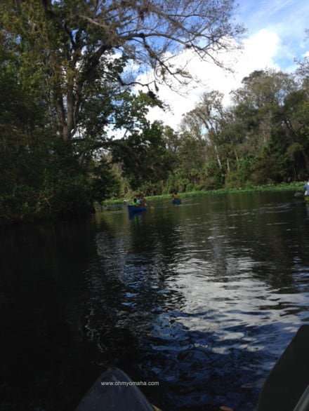 Paddlers on Wekiva River