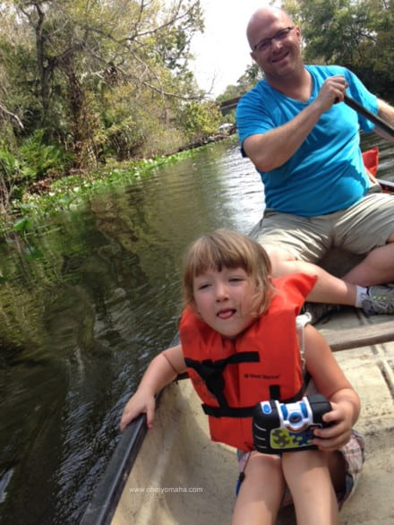 Canoes from Wekiva Island are large enough to fit a family of four if kids are little enough