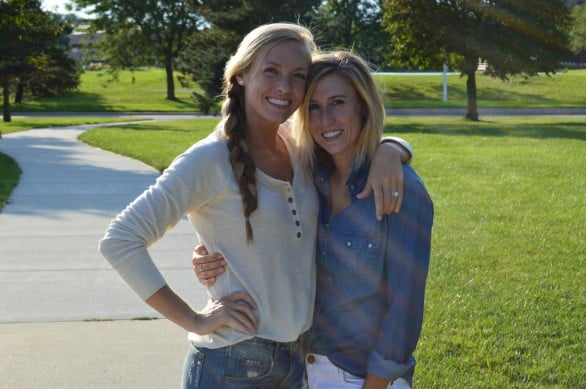 One of Kristin's most popular posts was about her sister. Photo courtesy Kristin Kruse