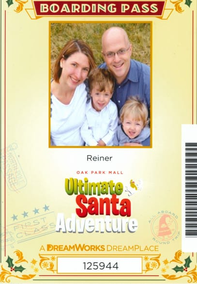 Here's a boarding pass if you book ahead and submit a family photo.