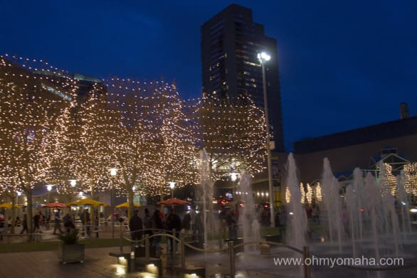 Crown Center at Christmas time.