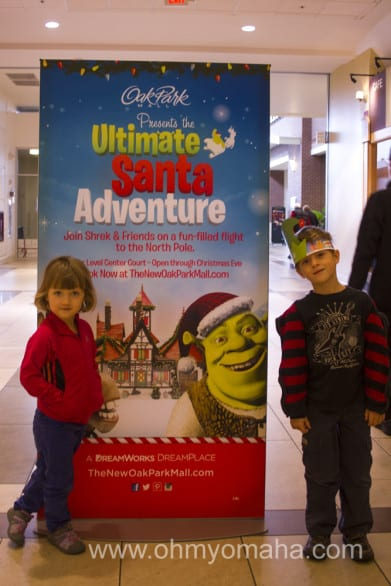 "DreamWorks ""Ultimate Santa Experience"" features Shrek, Donkey and the big man himself."