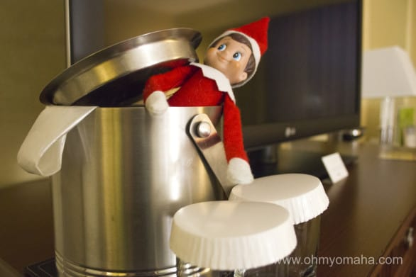 Our elf, Tizbee, followed us on the trip.