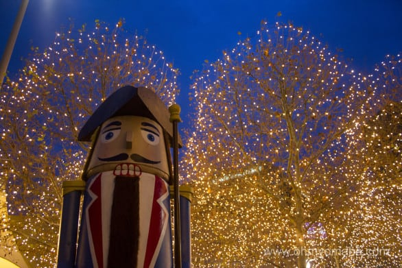 Holiday decorations at Crown Center in downtown Kansas City, Missouri.