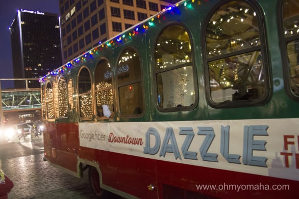 Downtown Dazzle trolley in Kansas City