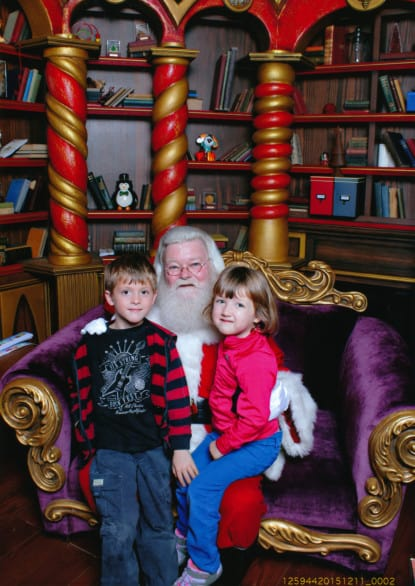 Cue awkward photo with Santa.