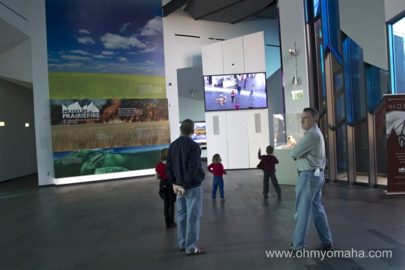 ALIVE Interactive lets you interact with creatures you on a screen in the lobby of the Museum at Prairiefire.