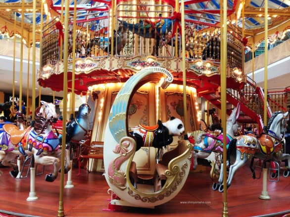 Carousel inside Oak Park Mall in Overland Park, Kansas