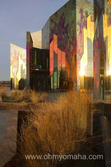 Exterior of the Museum at Prairiefire changes depending on the time of day and how sunny it is.