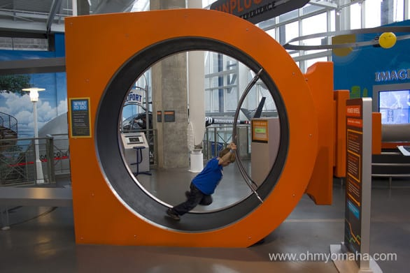 Checking out the Science of Energy area at Science City. I tried it out for a few seconds and totally count this hamster wheel as my day's workout.