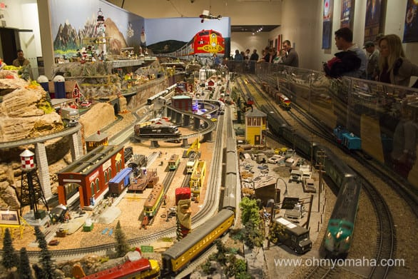 Just one side of the huge model train room.