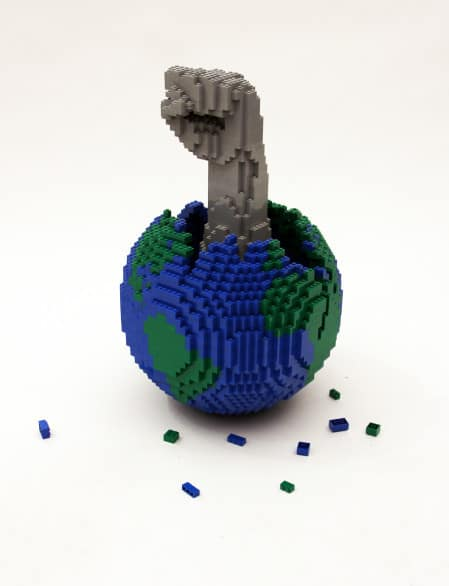 """Art of the Brick"" is on display at Sioux City Art Center through May. Photo courtesy brickartist.com"