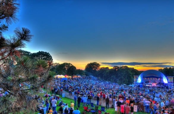 The mega music festival, Concert in the Park, is an annual free event at Battery Park. Photo courtesy Visit Sioux City