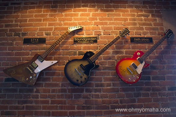 Obviously, you're going to find a lot of autographed guitars here.