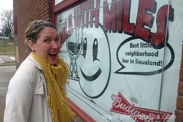 Smiling at Miles Inn.