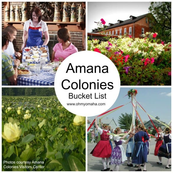 Amana Colonies Bucket List - Not sure what to do or where to go in the Amana Colonies? Start with this list of things to do! Includes a wish list of restaurants to visit and things to eat. #AmanaColonies #Iowa #USA