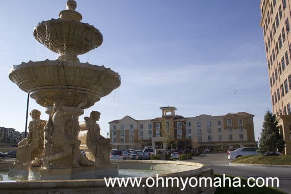 In a city known for its fountains, Courtyard by Marriott at Briarcliff can brag about the one near it.