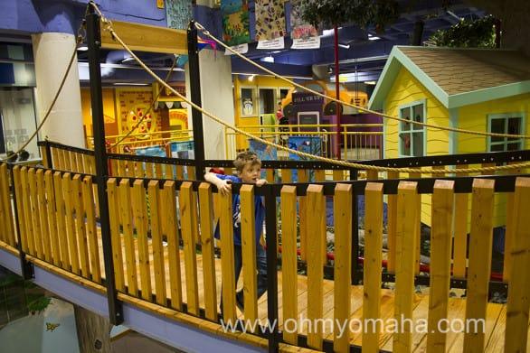 Bridge inside Lincoln Children's Museum in downtown Lincoln, Nebraska