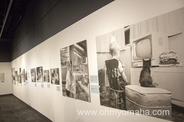 "Photos in the exhibit ""American Dreams in the Cold War: Photos by Barbara and Ralph Fox."""