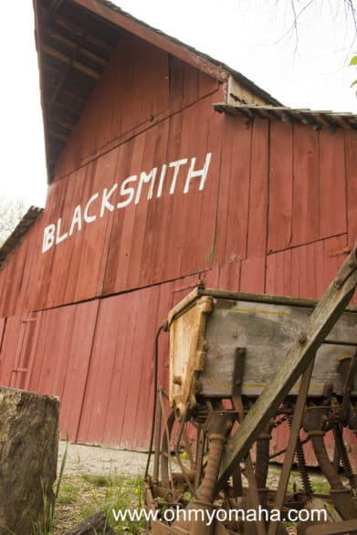 On a regular day, you won't find any re-enactors at Shoal Creek Living History Museum. Plan to visit during a special event to see sites like the blacksmith barn come to life.