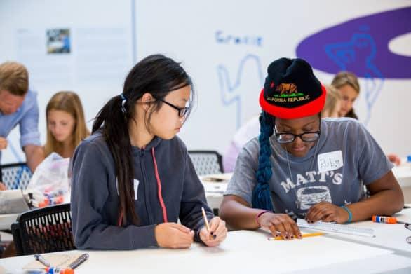 Students in the HDR KANEKO Architecture Design Summer Camp in 2015. Photo courtesy KANEKO