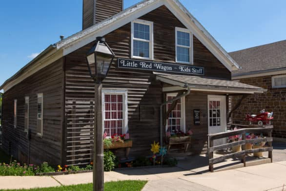 Things to do in the Amana Colonies - Shop at cute stores like the Little Red Wagon toy store in Amana